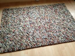 john lewis jelly bean hand knotted wool rug russet 180 x 120 cm 6ft