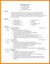 Sample Resume 1 Year Experience Qa How To Write A Killer Software