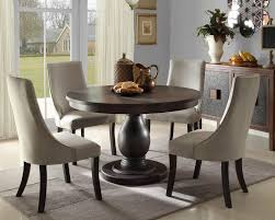 round table dining room furniture. Delighful Table SENECA 5 Pieces Contemporary Brown Round Dining Room Furniture Table Chairs  Set In M