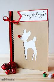supplies needed to make your own rudolph diy cards