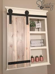 sliding cabinet doors for bathroom. DIY Sliding Barn Door Bathroom Cabinet Shanty 2 Chic Doors For O