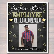 employee of month editable employee of the month printable office printable boss manager office worker instant download management office decoration