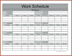 Free Employee Schedule Calendar Printable Blank Weekly Employee Schedule Monthly Work Template