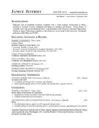 Sample Of High School Student Resume College High School Senior
