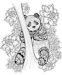 Zentangle Panda Coloring Sheet Printable Coloring Pinterest Dessin