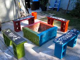■home decor Amazing Cinder Block Furniture Backyard Cinder