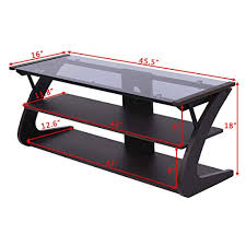 at this point you might be examining tangkula universal tv stand 3 tire tv stand storage console with storage shelves