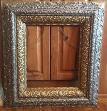 antique frame. Extra Large Antique Frame, Gold Silver 28 X 25 Metal \u0026 Wood Vintage Ornate Beautiful Frame From