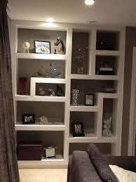 built shelves full modern built in wall shelves with framed pictures collections fabric u