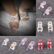 barefoot sandals for baby shoes sandel anklet chain hottest stretch pearlstoe ring beading wedding infant foot jewelry foot trendy earrings for girls