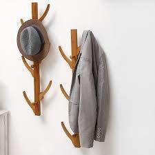 Hanging Coat Rack On Wall Custom Fashion 32 Hooks Wall Hanging Coat Rack Solid Wood Hayfork Hangers