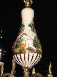 italian chandelier very pretty ceramic and gilt brass antique lighting antique italian chandeliers