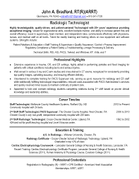 Radiologic Technologist Resume Examples Examples Of Resumes