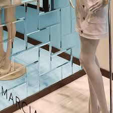 abolos echo abolos l stick beveled 3 x 6 mirror glass handmade backsplash bathroom subway wall tile in high gloss graphite reviews wayfair