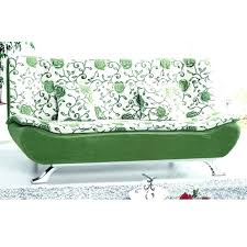 Green Sofa Bed Printed Fabric Sofas Floral Couch Cushions White And  With Metal13