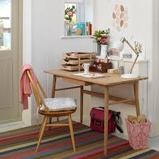 country home office. White Country Home Office With Retro-style Desk And Chair Y