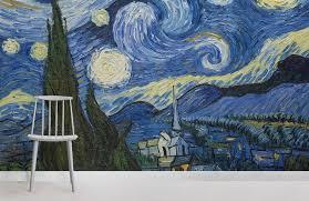 van gogh starry night wallpaper mural