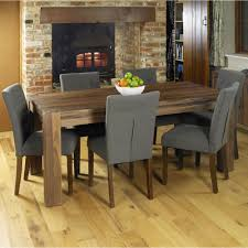 Details About Mayan Walnut Dark Wood Modern Furniture Large Dining Table And Six Chairs Set