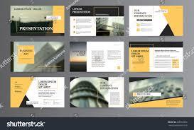 Original Presentation Templates Corporate Booklet Easy Stock Vector