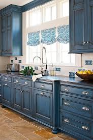 blue painted cabinets. Plain Painted This Is A Wonderful Blue Tone To Use In Cabin Or Sophisticated Kitchens   Paint With Aubusson Napoleonic Blue U0026 Add Graphite Chalk Paint  On Painted Cabinets M