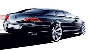new release of carRelease of the new VW Phaeton once again sufferedvolkswagun