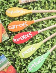 these colorful wooden spoon plant markers will help you identify the plants in your garden and get you ready for the riot of color that your fruits and