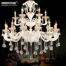 luxury 2 tier modern big chandeliers china re cristal hanging light lamp home decoration lighting parlor