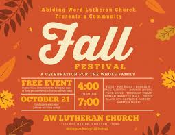 Fall Festival Flier Fall Festival Flyer Horizontal Abiding Word Lutheran Church
