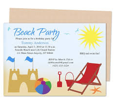 Boys Birthday Party Invitations Templates Kids Party Templates Beach Design Birthday Party
