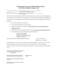 Medical Release Form For Child Best Photography Consent Form Chookiesco