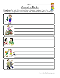 Quotation Marks Worksheet 2 Free Printable Punctuation Worksheets ...
