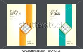 annual report design layout book cover vector template in size brochure simple exle