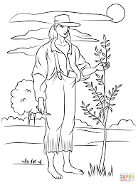 Small Picture Johnny Appleseed Coloring Page Within Coloring Page snapsiteme