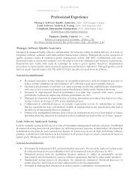 Qa Qc Resume Sample Best of Quality Assurance Resume Samples Resume Tutorial