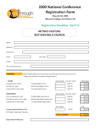 printable registration form template printable registration form template 2 28 of receipt banquet church