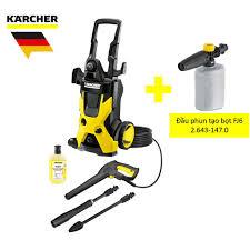 SALE] Combo máy xịt rửa xe Karcher K5 và đầu phun tạo bọt FJ6