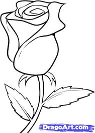 Small Picture How to Draw a White Rose Step by Step Flowers Pop Culture FREE