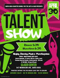 Talent Show Tuesday April 30th 2019