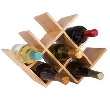 bamboo wine rack. Modren Bamboo Classic Cuisine 8Bottle Tabletop Free Standing Bamboo Wine Rack On A