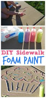 arts and crafts to do at home with toddlers. diy sidewalk foam paint. easy diys for kidsfun craftsdiy arts and crafts to do at home with toddlers