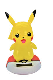 pikachu adorable pokemon bobble head solar powered toy 5 tall relaxing solar toy for office home or car limited edition walmart