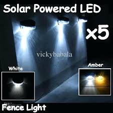 fence lights new outdoor garden path wall solar powered led fence light solar lights for garden fence lights