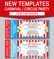 Admit One Ticket Template Free Simple Carnival Ticket Invitation Templates Photo Gallery Of Carnival