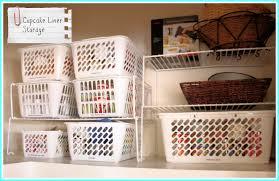 Kitchen Cabinet Shelf Paper Cupcake Liner Storage 2jpg