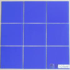 blue 100x100mm 4x4 inch glass mosaic wall tile vg cyn97