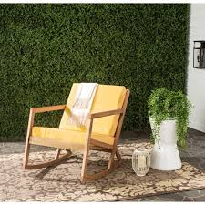 yellow outdoor furniture. This Review Is From:Vernon Teak Brown Outdoor Patio Rocking Chair With Yellow Cushions Furniture