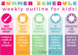 Somewhat Simple Chore Chart 40 Daily Schedule Template For Kids Markmeckler Template