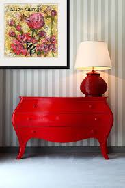 red hallway table. decorating ideas   red hall table with lamp for foyer or hallway decor inspirational h