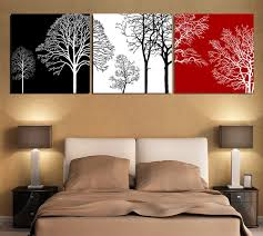 free shipping black white and red tree modern wall art oil painting home decor picture print on canvas 3pcs set framed t 442 in painting calligraphy from  on wall art black white and red with free shipping black white and red tree modern wall art oil painting