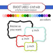 printable bracket frame. 20 Digital Bracket Frames Or Labels Instant By Valerianedigital Clipart Printable Frame E